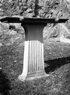 231110 Bestand-D-DAI-ROM-W.1175.jpg VI.7.23 Pompeii.  W.1175. Marble table with small lions heads. Photo by Tatiana Warscher. Photo © Deutsches Archäologisches Institut, Abteilung Rom, Arkiv. See http://arachne.uni-koeln.de/item/marbilderbestand/231110