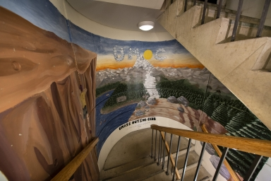 East stairwell, between 15th and 16th floors