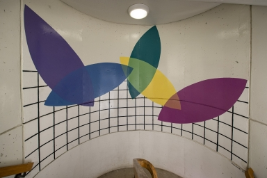 East stairwell, between 18th and 19th floors