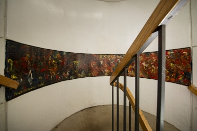 West stairwell, between 15th and 16th floors