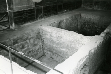 I.10.4 Pompeii. 1972. House of Menander, room under triclinium, NE location of room.   Photo courtesy of Anne Laidlaw. American Academy in Rome, Photographic Archive. Laidlaw collection _P_72_8_8.