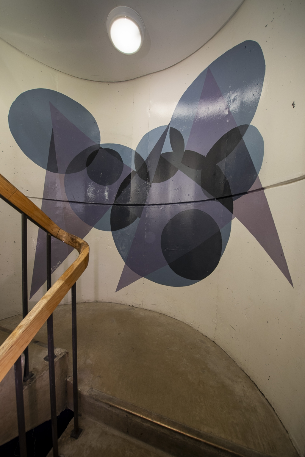 East stairwell, between 23rd and 24th floors