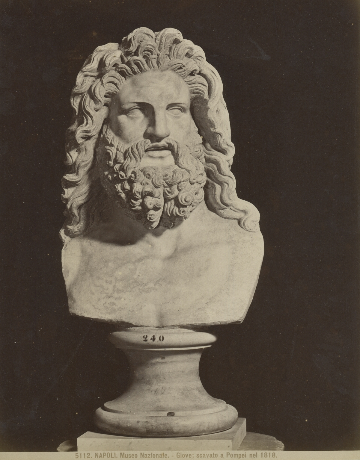 VII.8.1 Pompeii. Photo by Brogi, no. 5112. Head of Jupiter, found in 1818. Now in Naples Archaeological Museum. Photo courtesy of Rick Bauer.